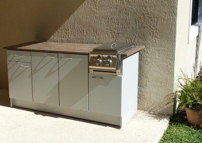 Outdoor Side Burner Grill Cabinet