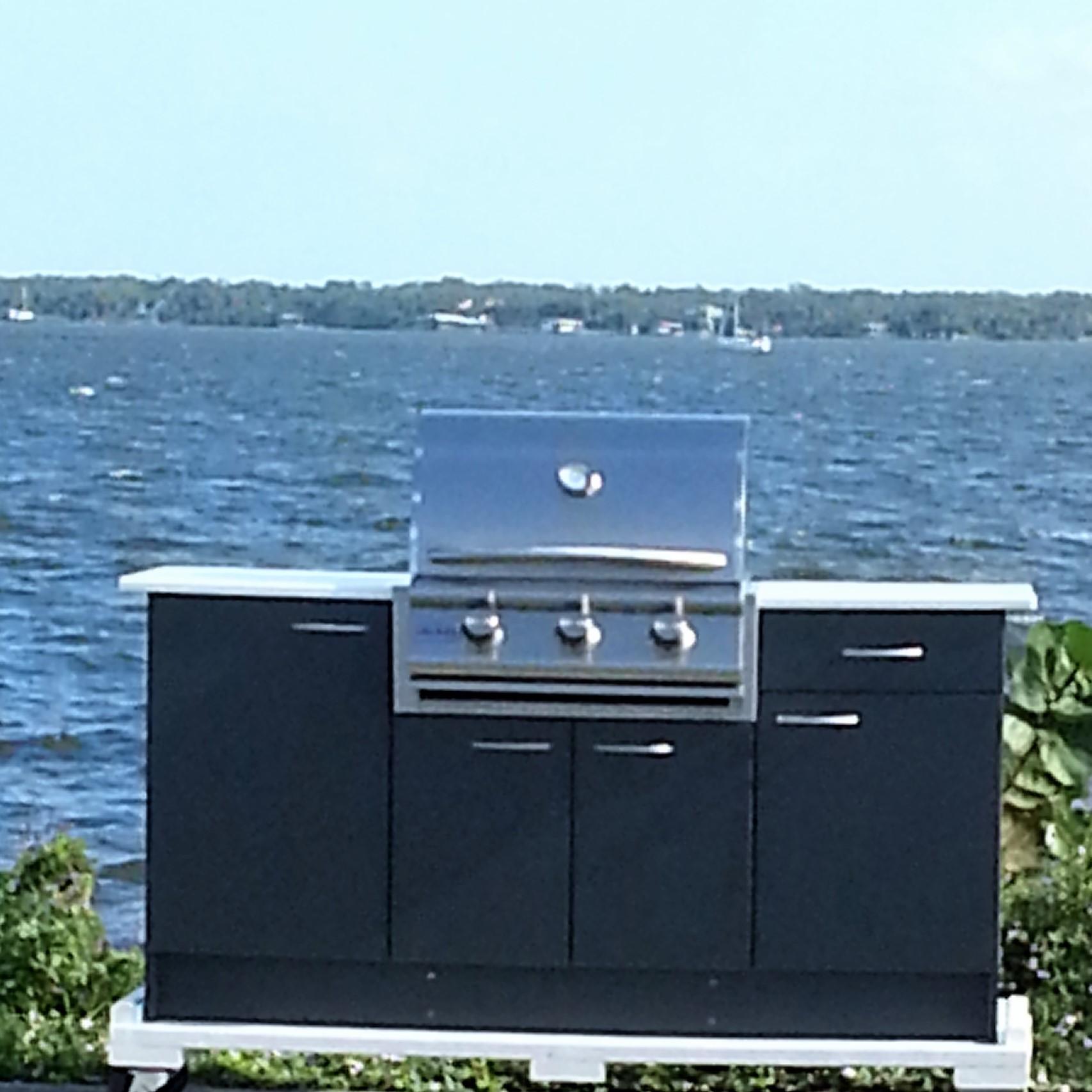 outdoor polymer grill cabinet design your grill cabinet. Black Bedroom Furniture Sets. Home Design Ideas